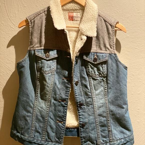 Ruff Hewn Jackets & Blazers - Denim Jean Vest